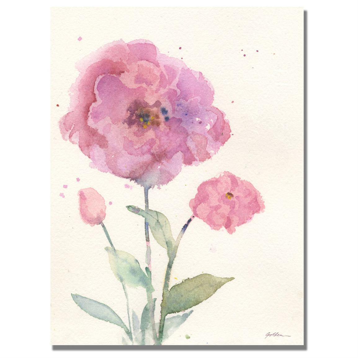 """Camelia Blush"" Canvas Wall Art by Shelia Golden"