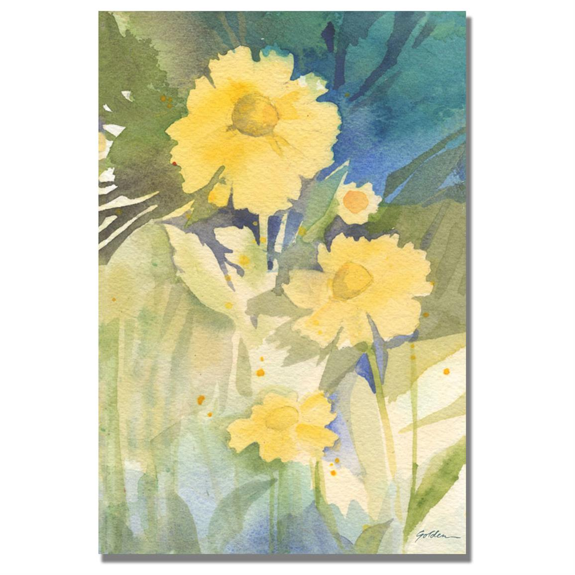 """Sunshine Yellow"" Canvas Wall Art by Shelia Golden"