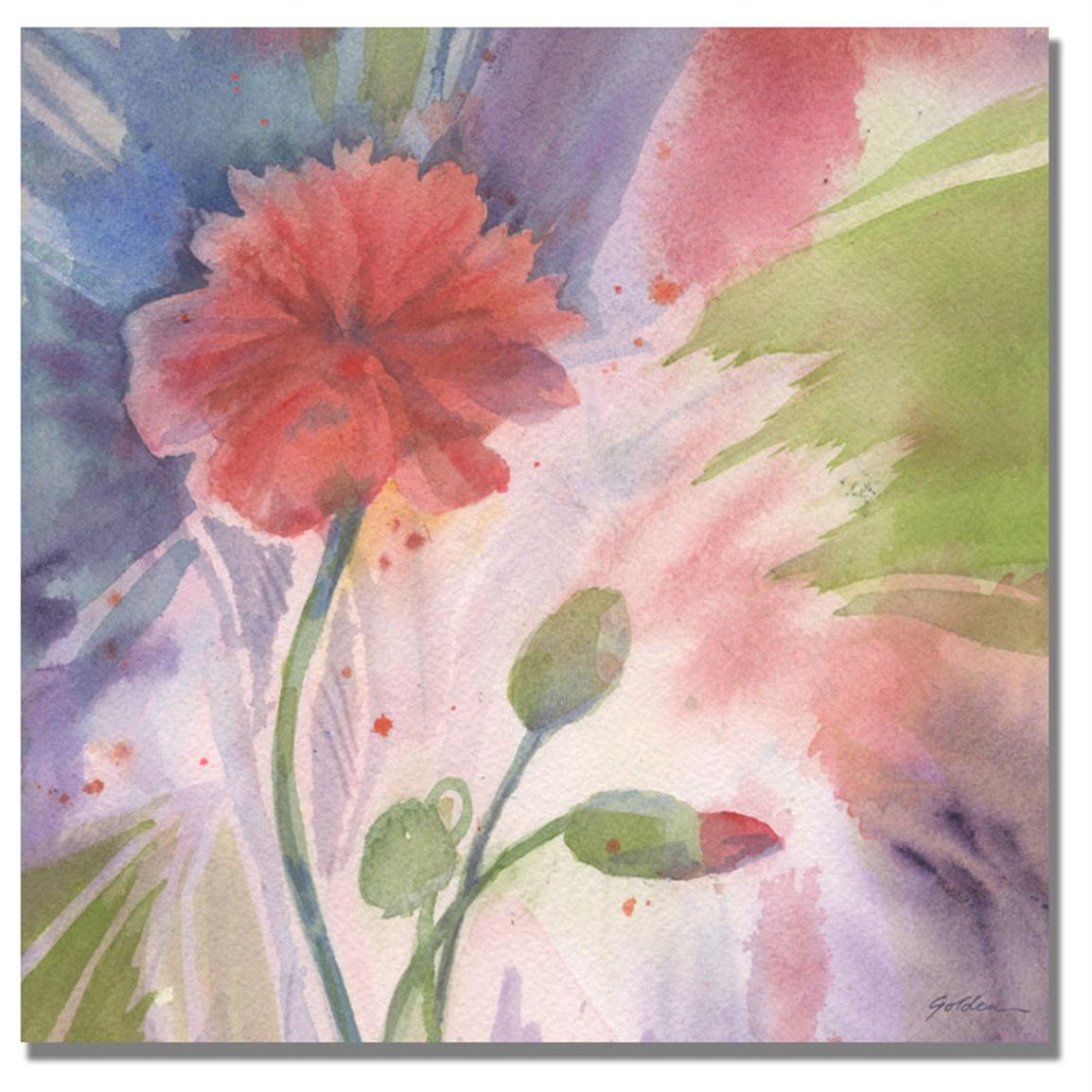 """Budding Poppy"" Canvas Wall Art by Shelia Golden"