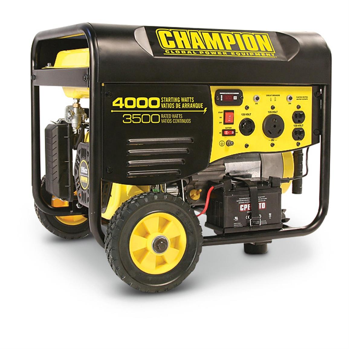 Champion® Remote Start Gas Generator