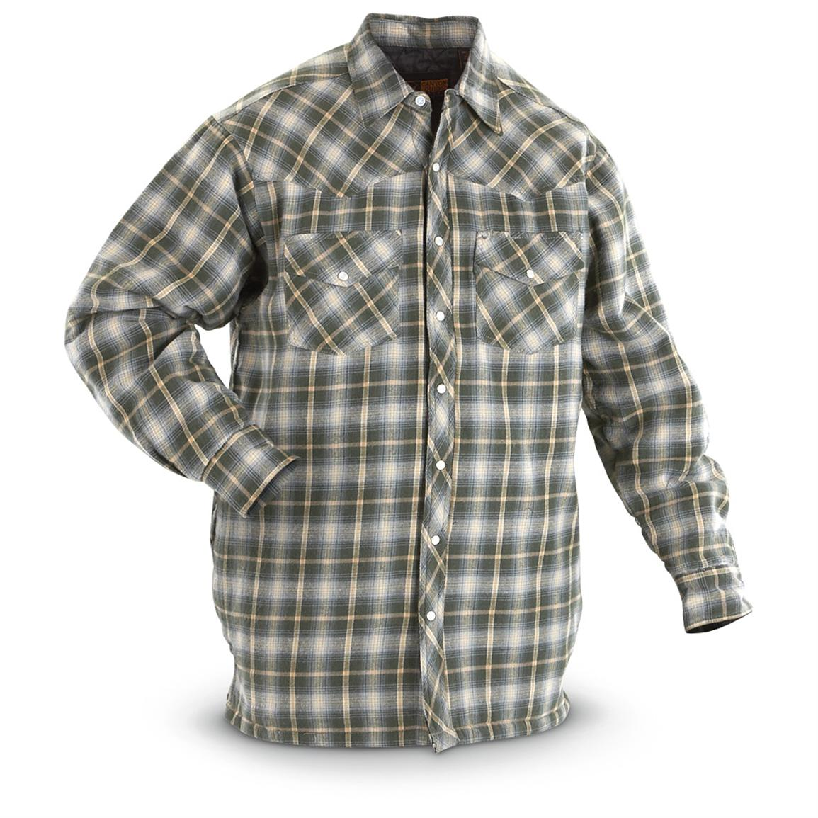 Quilted flannel shirt jacket outdoor jacket for Men flannel shirt jacket with quilted lining