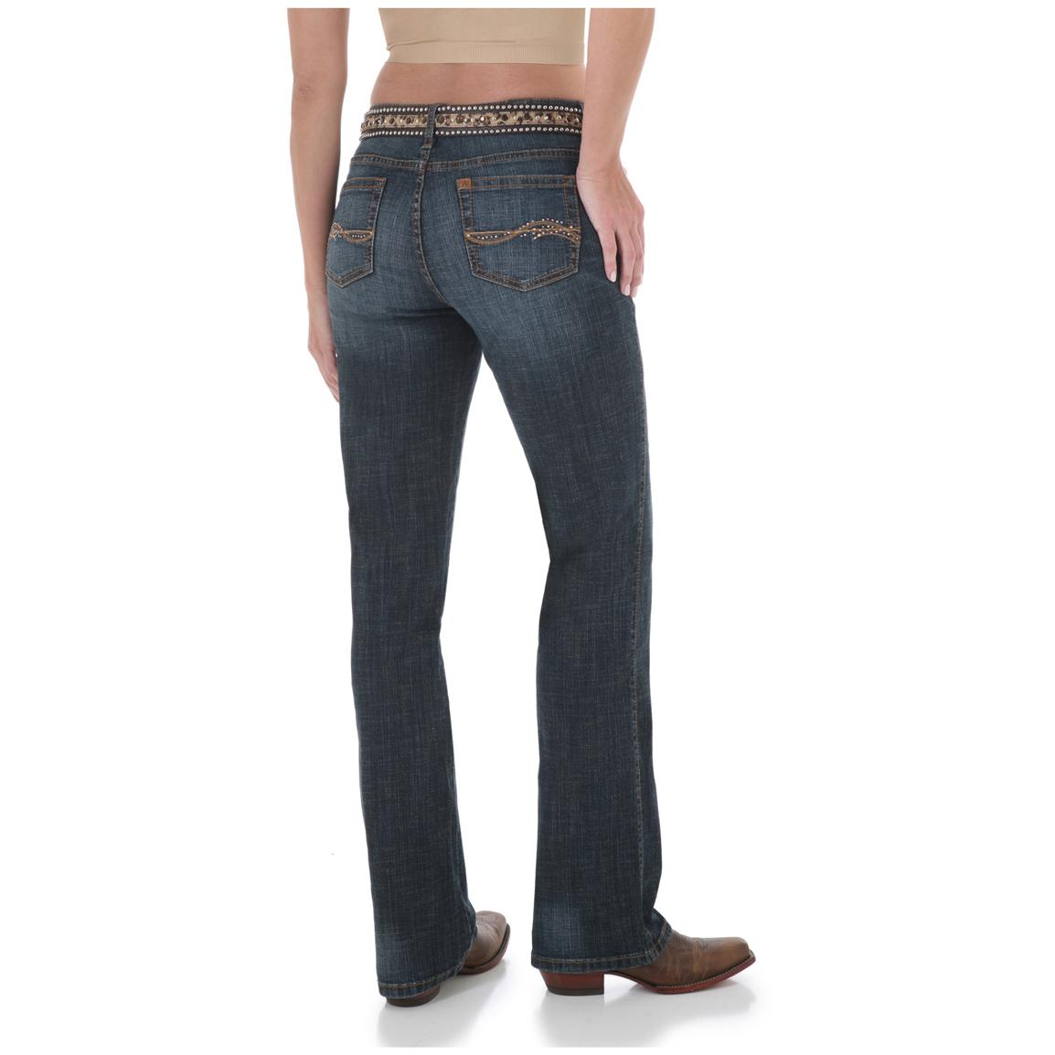 Women's Aura from the Women at Wrangler® Instantly Slimming Stretch Jeans, Autumn Gold - Back View