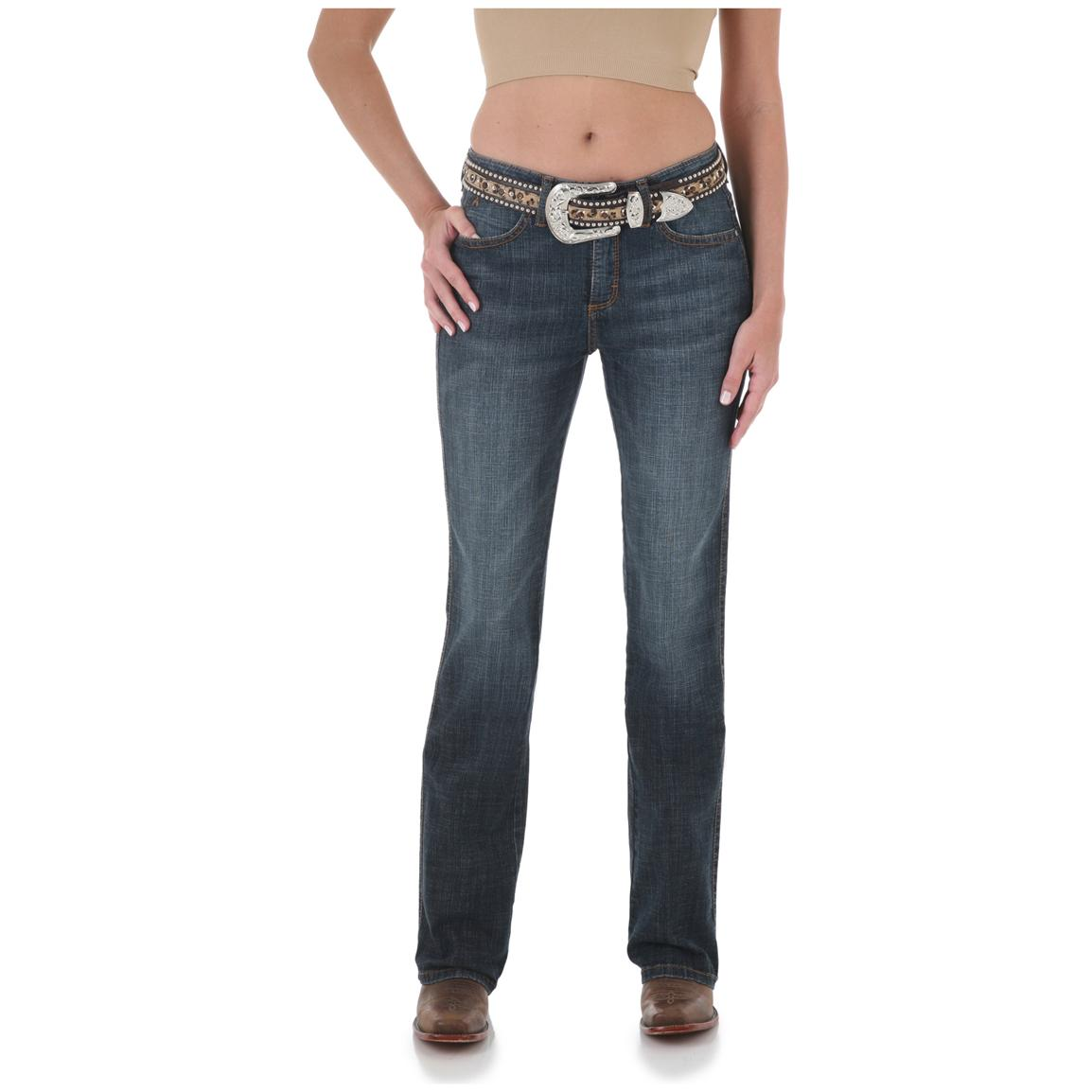 Women's Aura from the Women at Wrangler® Instantly Slimming Stretch Jeans, Autumn Gold