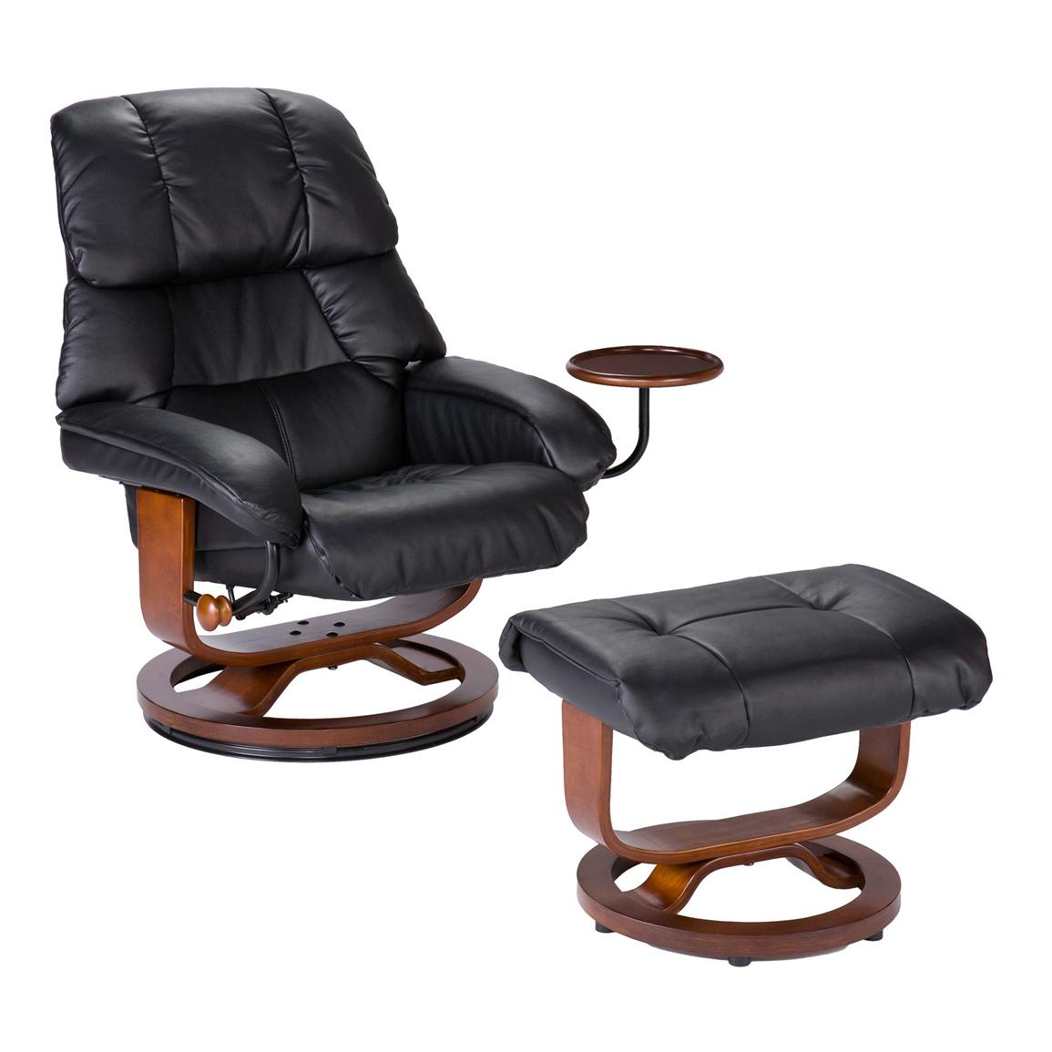 Mechanism-glide reclining system with position lock and 360 degree swivel (ottoman does not swivel)