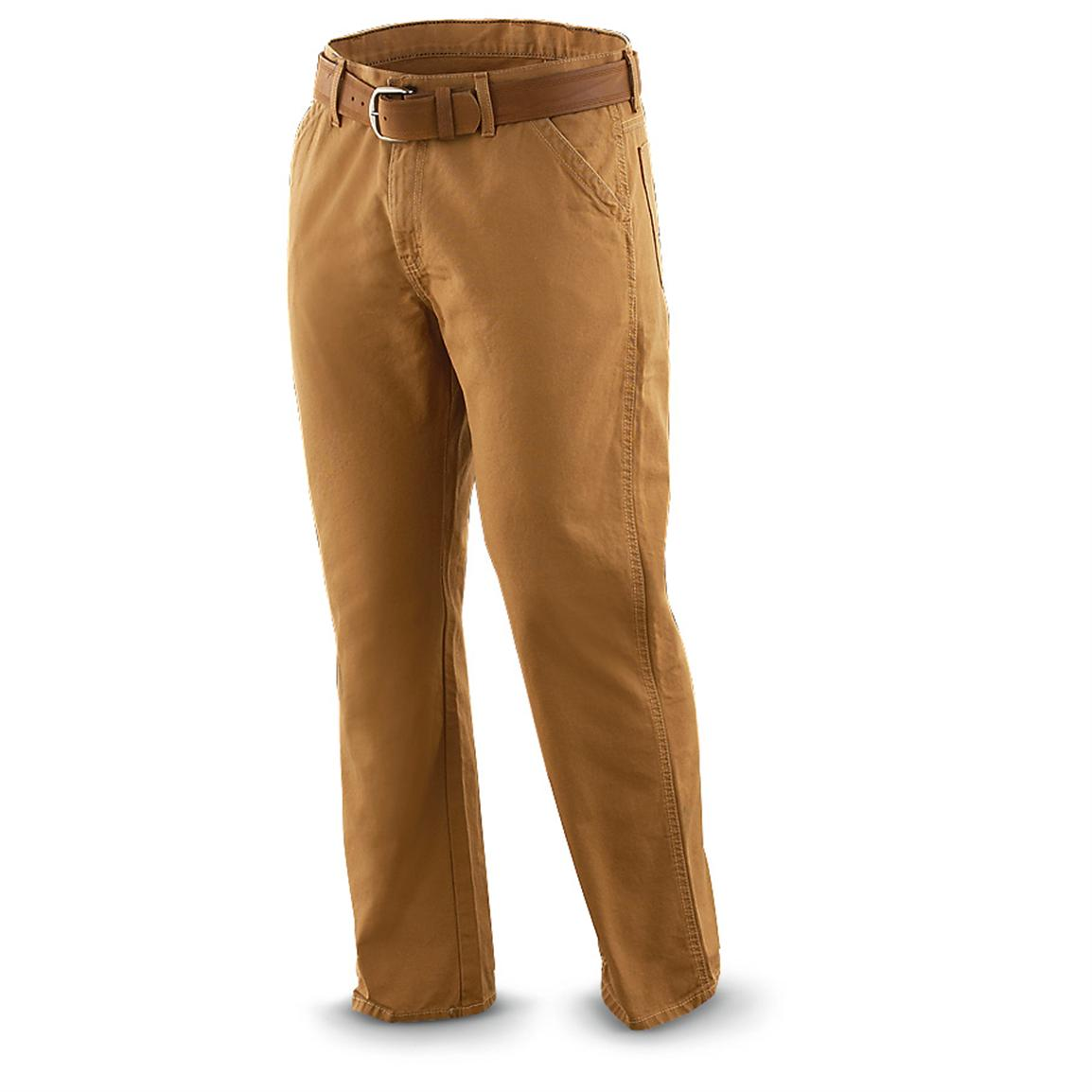 Dickies® Relaxed-fit Cotton Duck Utility Jeans, Rinsed Brown