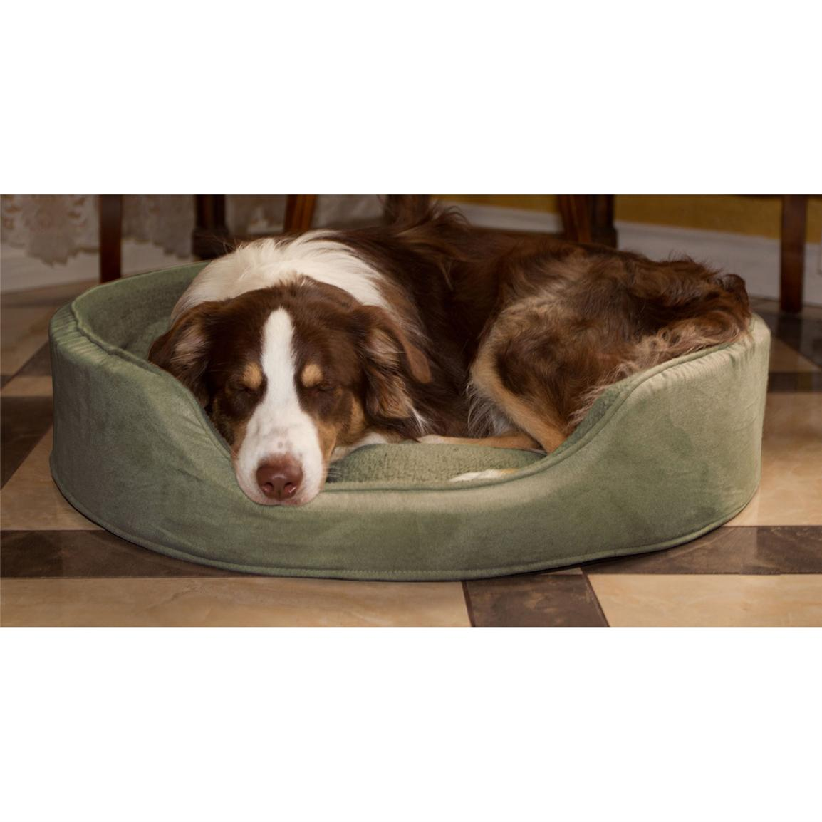 Trademark® PAW Cuddle Round Suede Terry Pet Bed, Forest