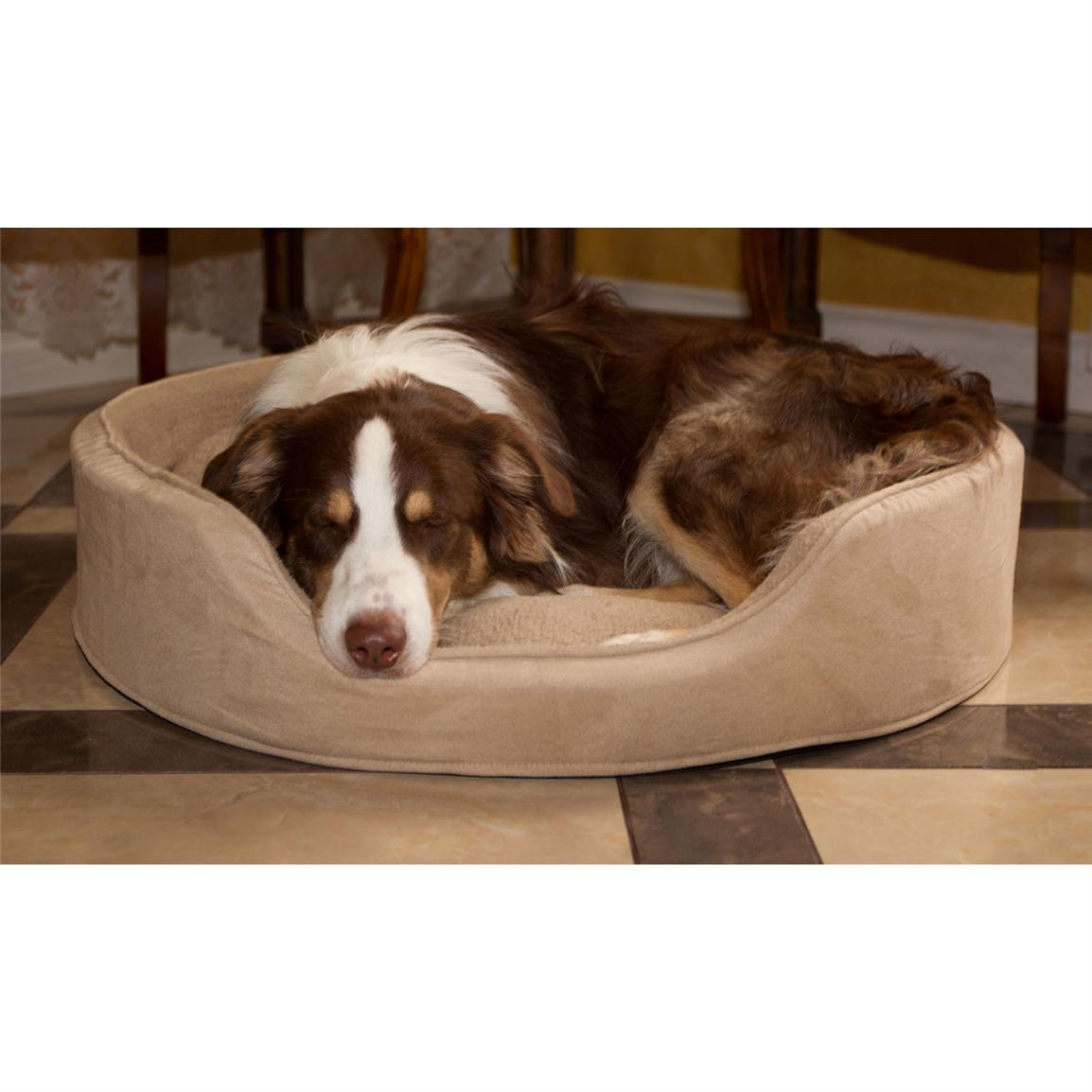Trademark® PAW Cuddle Round Suede Terry Pet Bed, Clay