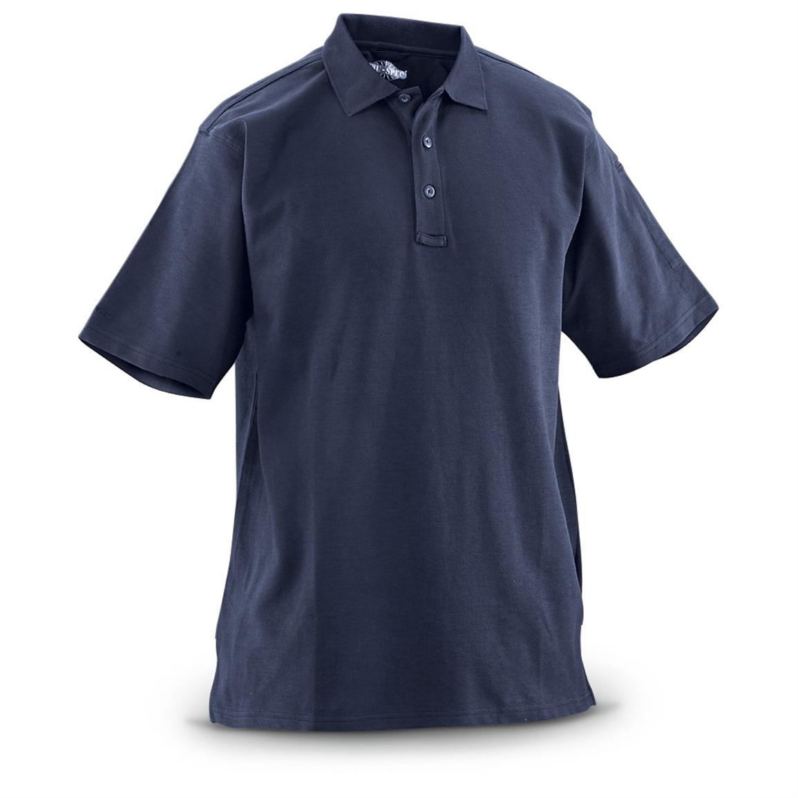 2 EOTAC™ Short-sleeved Pocket Polo Shirts, Navy