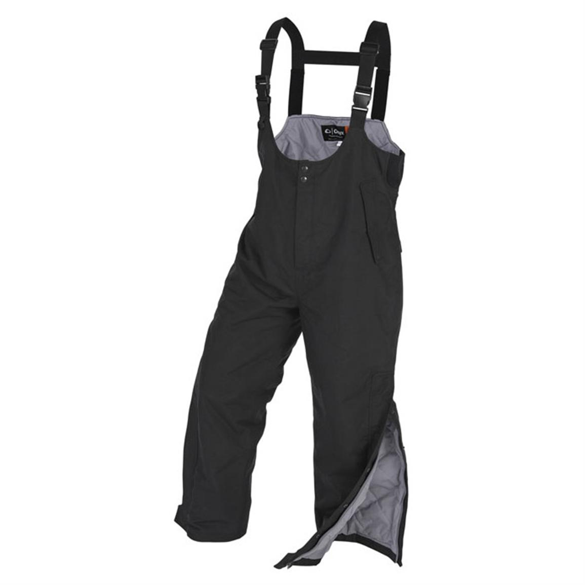 Onyx ArcticShield® Cold Weather Waterproof Bib Overalls, Black
