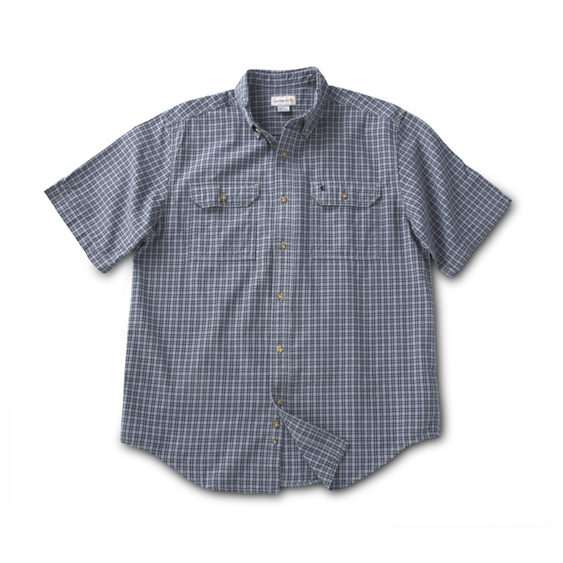 Carhartt Fort Plaid Short-sleeve Shirt, Blue