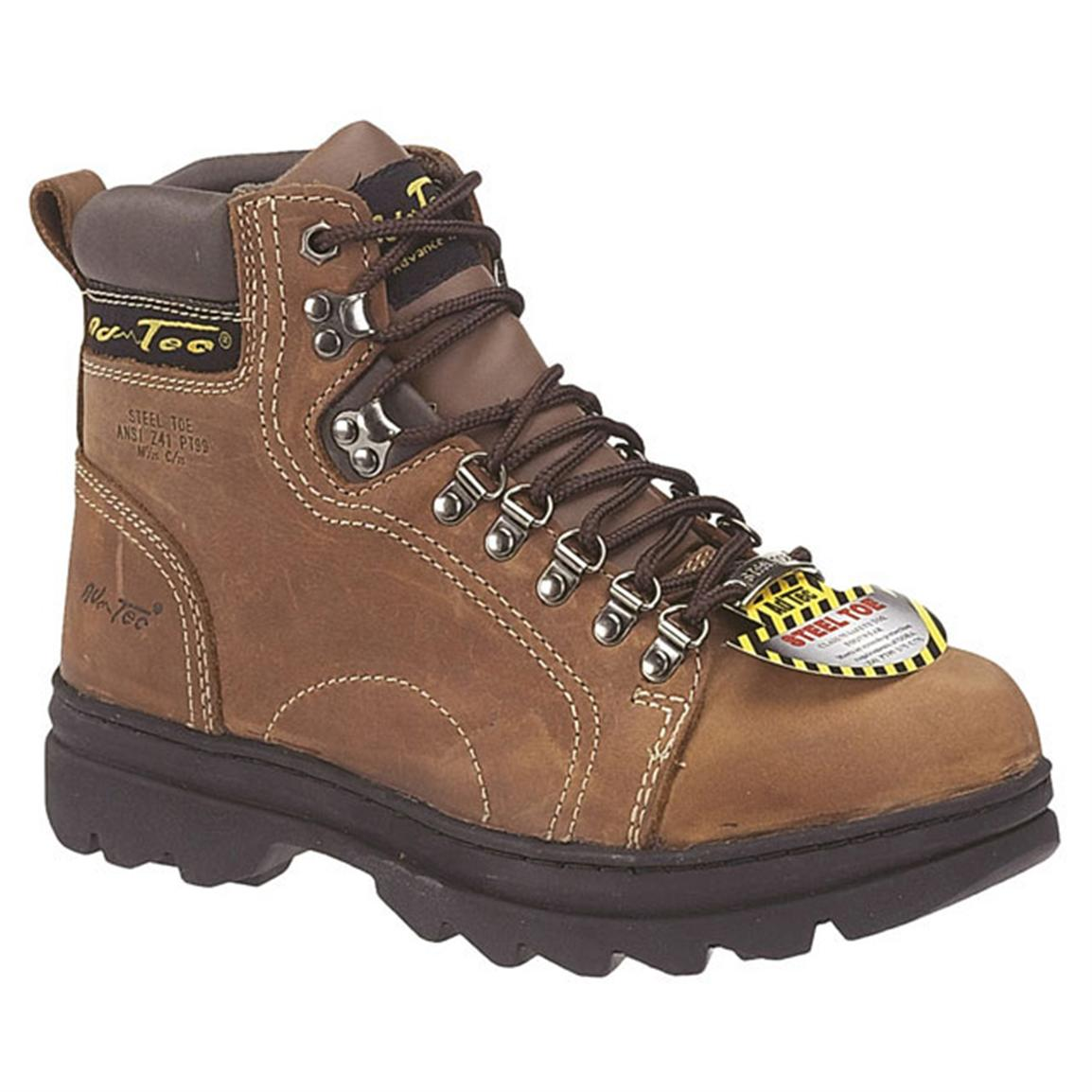 Men's 6 inch Ad Tec® Steel Toe Hikers, Brown