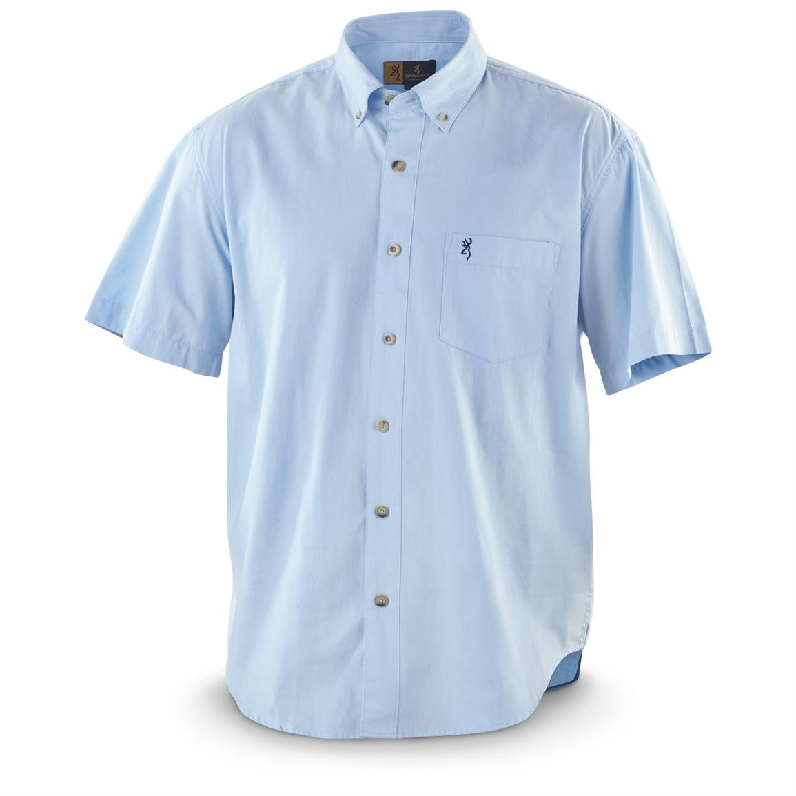 Browning wrinkle resistant short sleeved twill shirt Best wrinkle free dress shirts