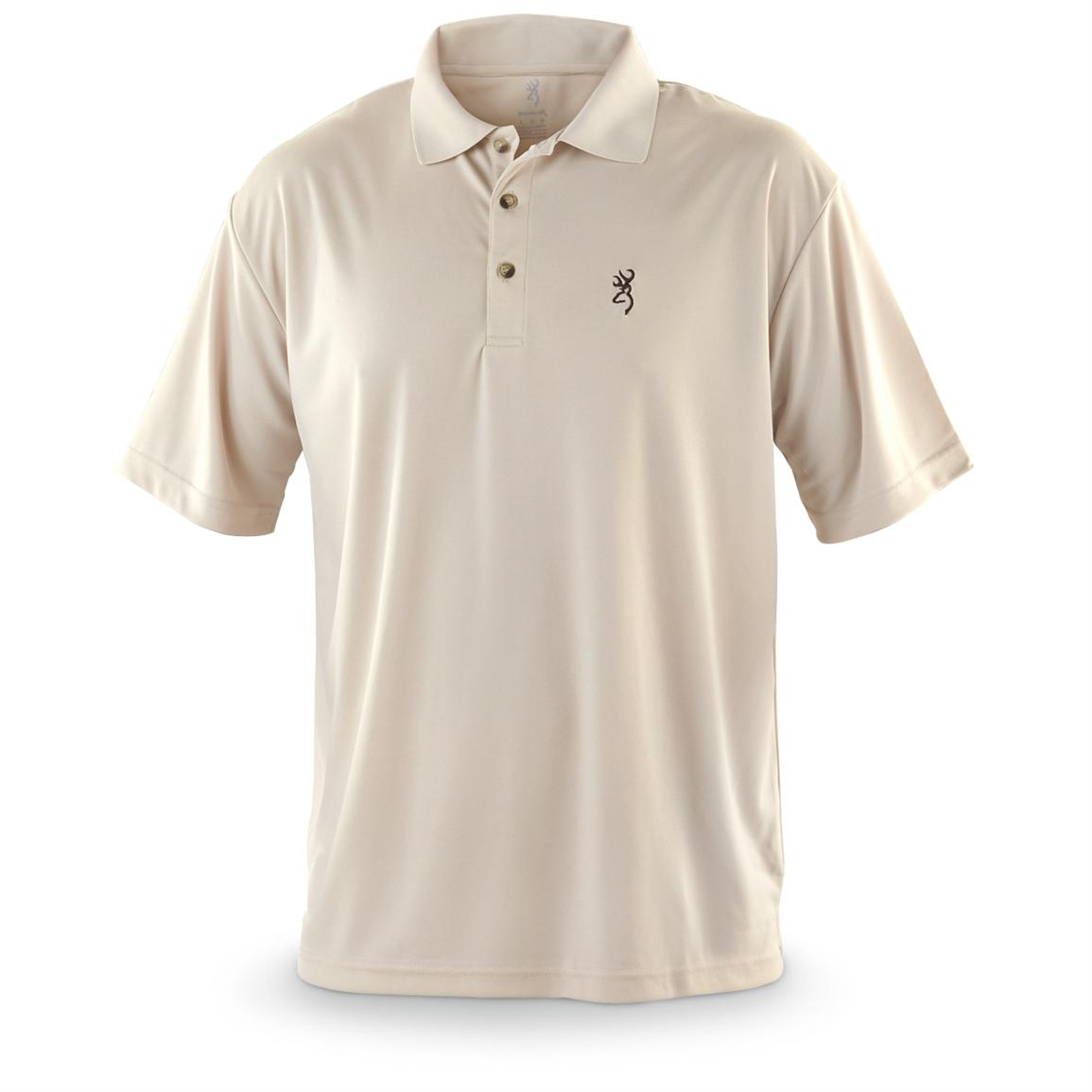 Browning® Performance Short-sleeved Polo, Tan