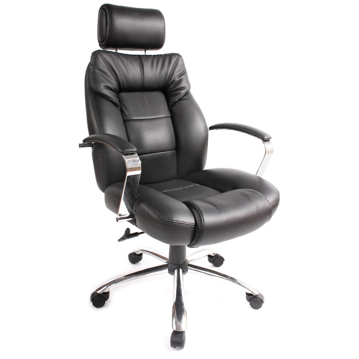 Comfort Products Commodore II Leather Chair with Adjustable Headrest, Front Side
