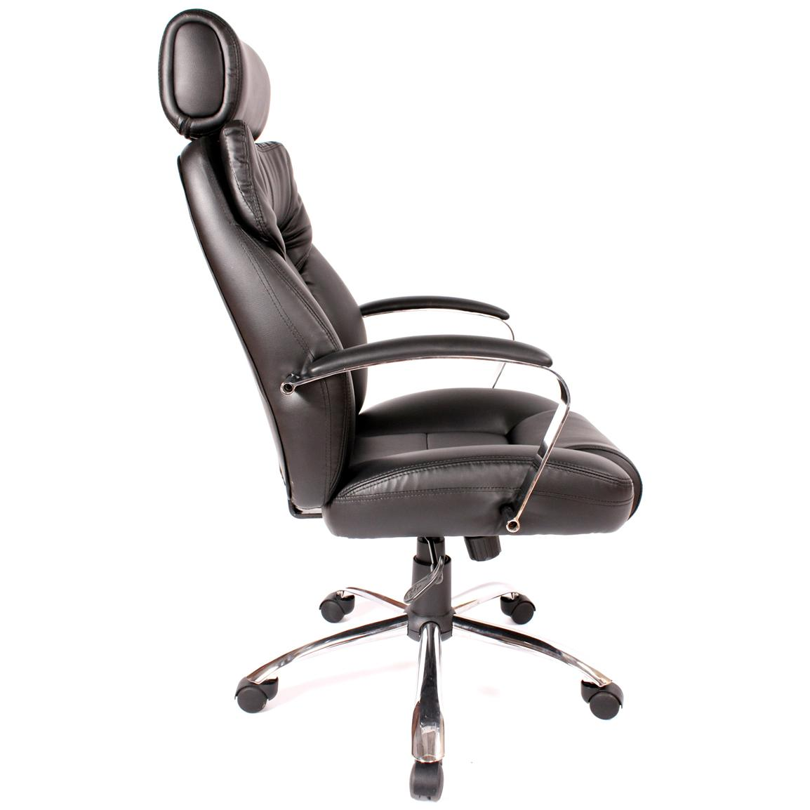 Comfort Products Commodore II Leather Chair with Adjustable Headrest, Right
