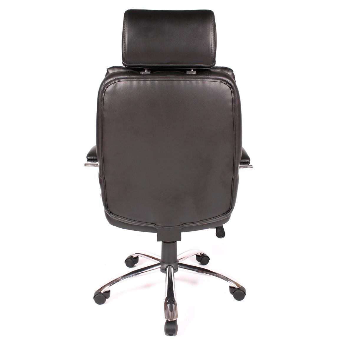Comfort Products Commodore II Leather Chair with Adjustable Headrest, Back