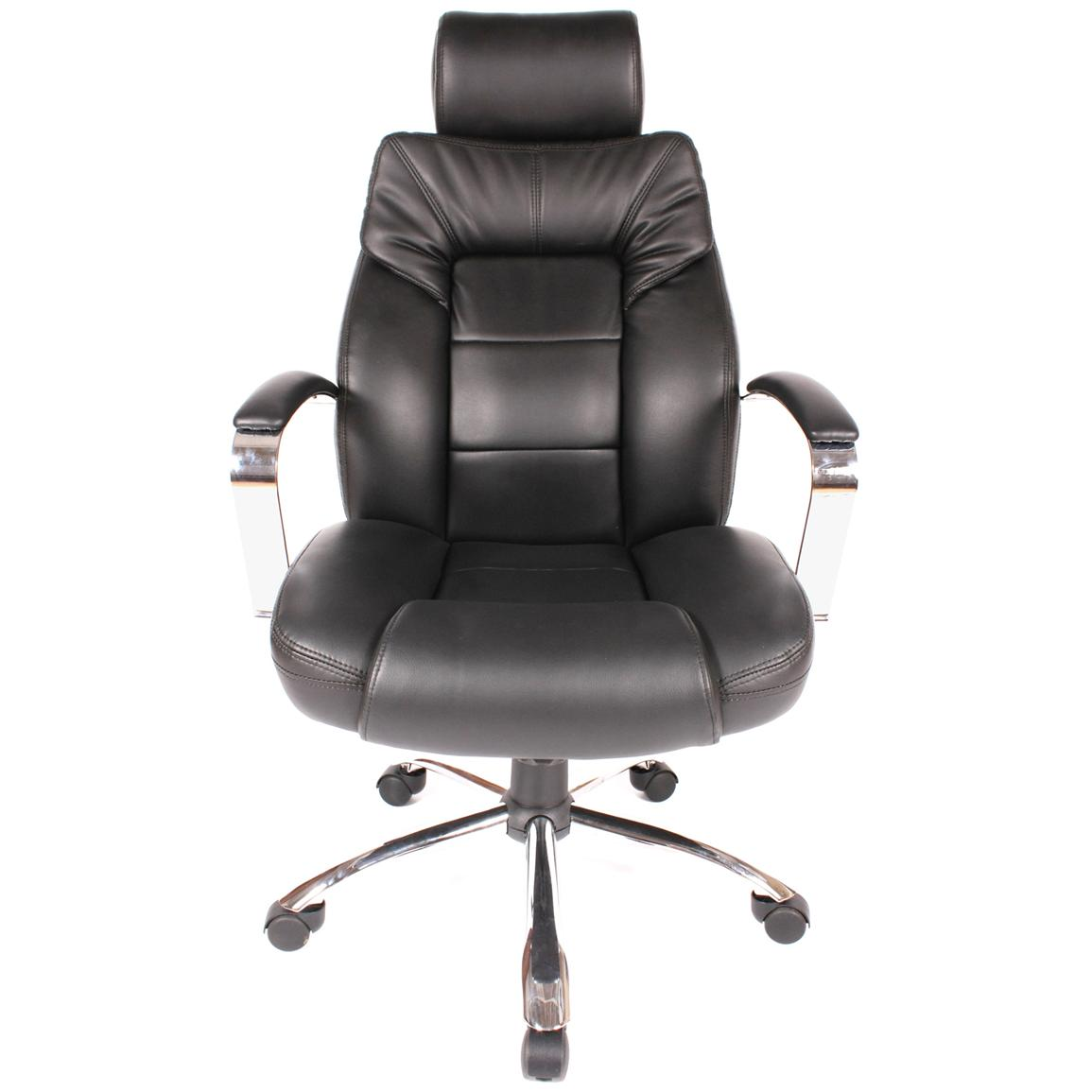 Comfort Products Commodore II Leather Chair with Adjustable Headrest, Front