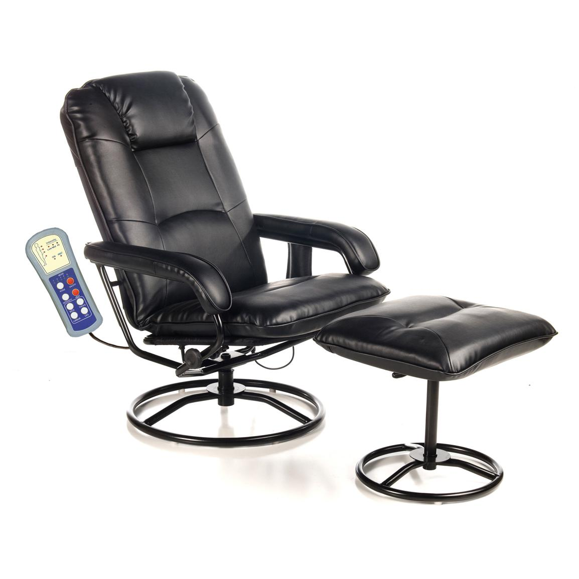 Comfort Products Leisure Recliner with 10-Motor Massage and Heat, Front Side