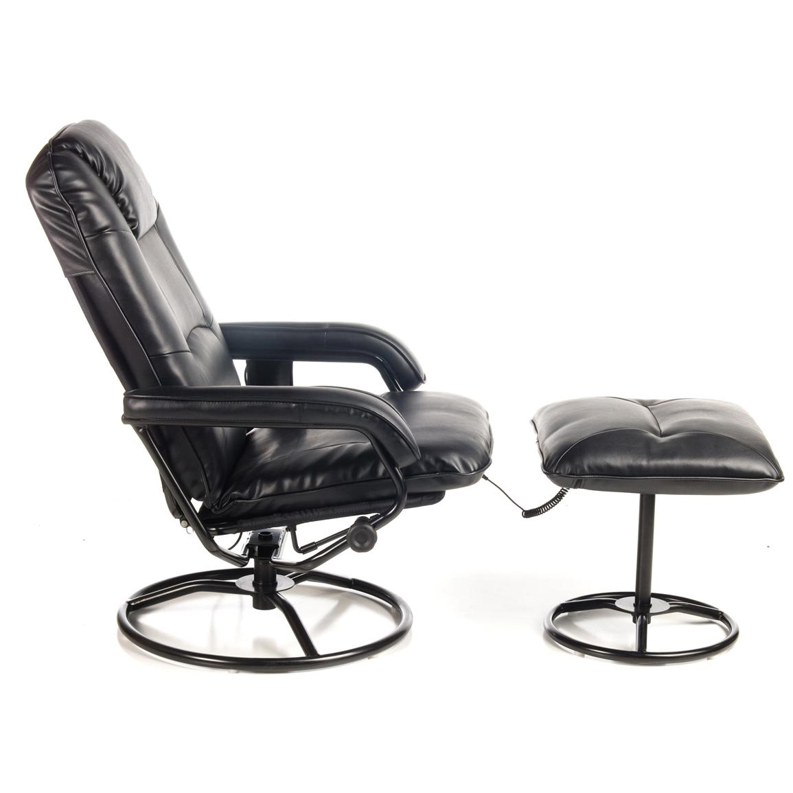 Comfort Products Leisure Recliner with 10-Motor Massage and Heat, Side