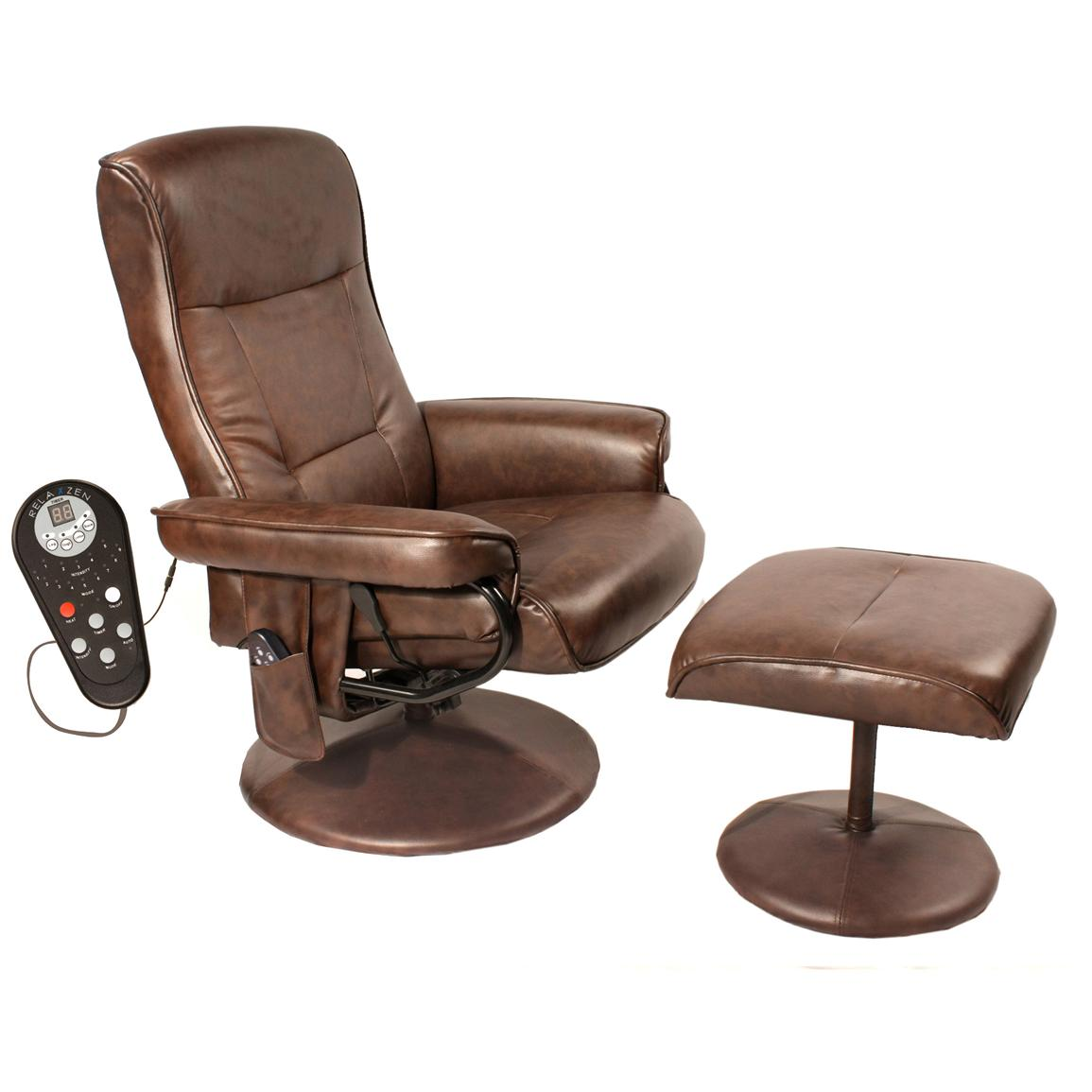 Comfort Products Leisure Recliner with 8-Motor Massage and Heat, Front Side
