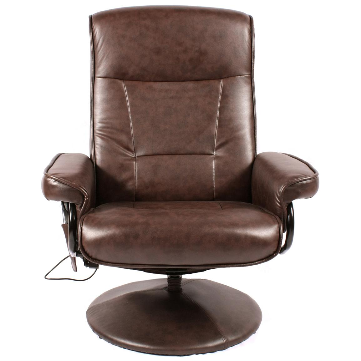 Comfort Products Leisure Recliner with 8-Motor Massage and Heat, Front