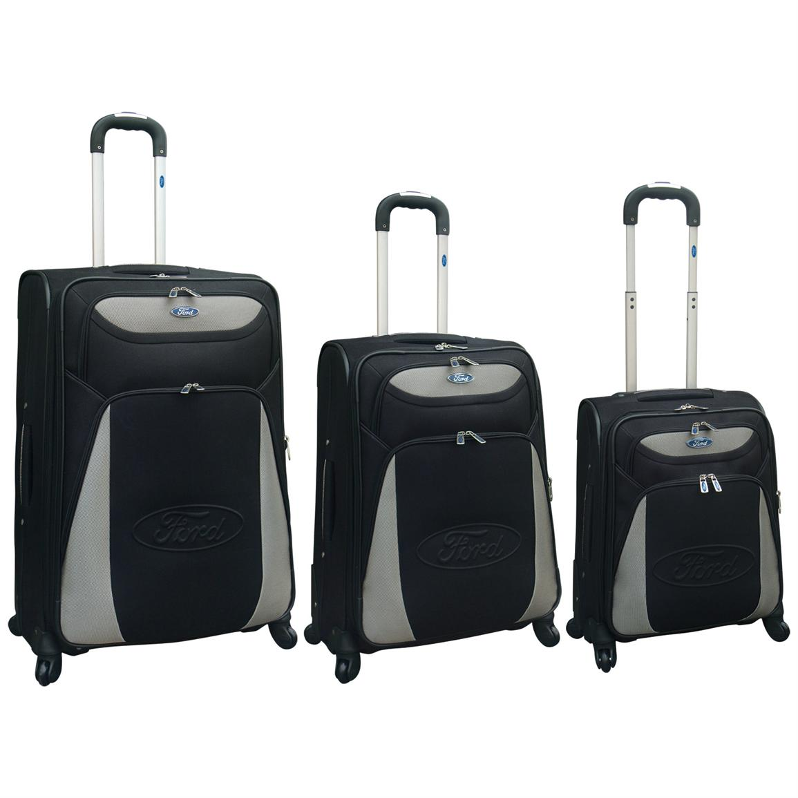 Travelers Club™ Ford Taurus 3-Pc. Expandable Hybrid 360° Spinner Luggage Set, Black