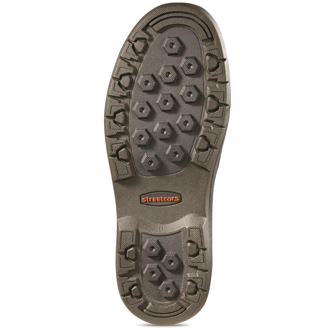 Traction rubber outsole for no-slip grip
