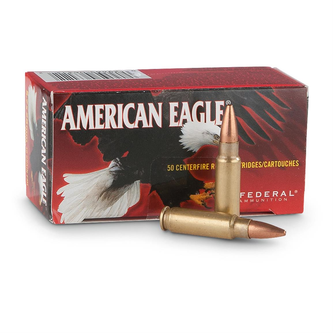 Federal American Eagle, 5.7x28mm, FMJ, 40 Grain, 50 Rounds