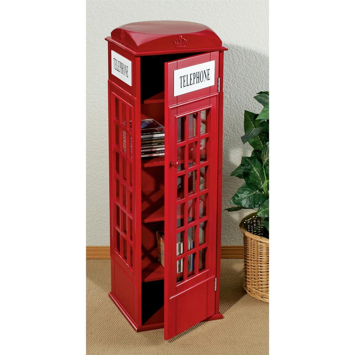 Red Telephone Box Display Cabinet Olschoolecom
