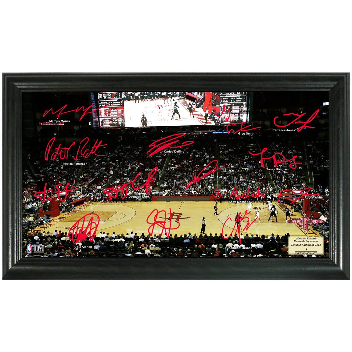 Houston Rockets Signature Court from The Highland Mint