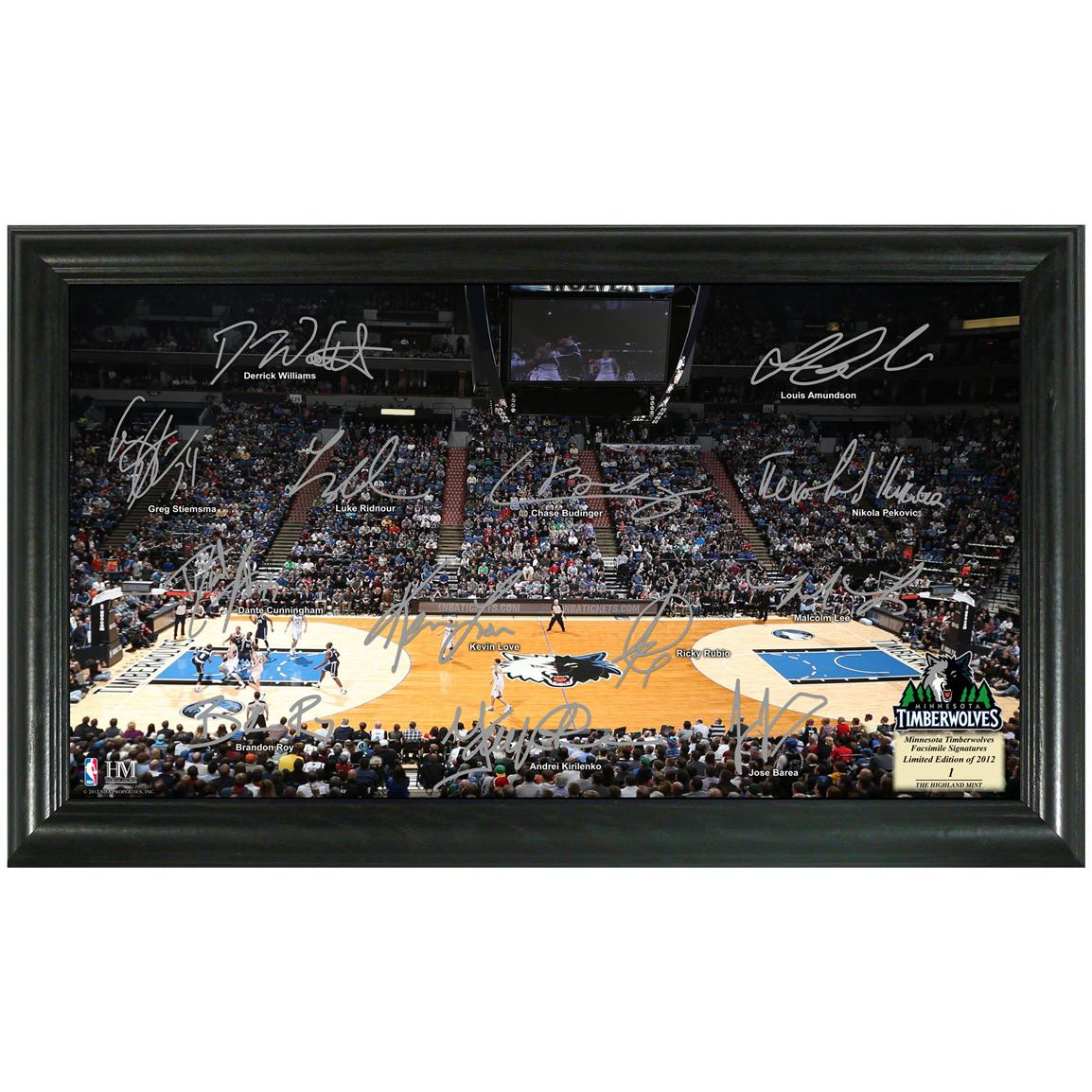 Minnesota Timberwolves Signature Court from The Highland Mint