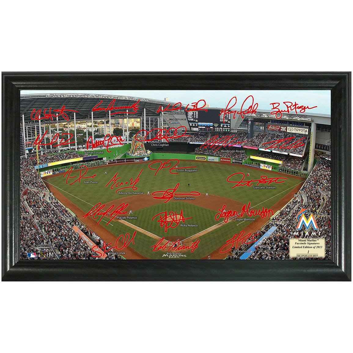 2013 Miami Marlins Signature Field Display from Highland Mint®
