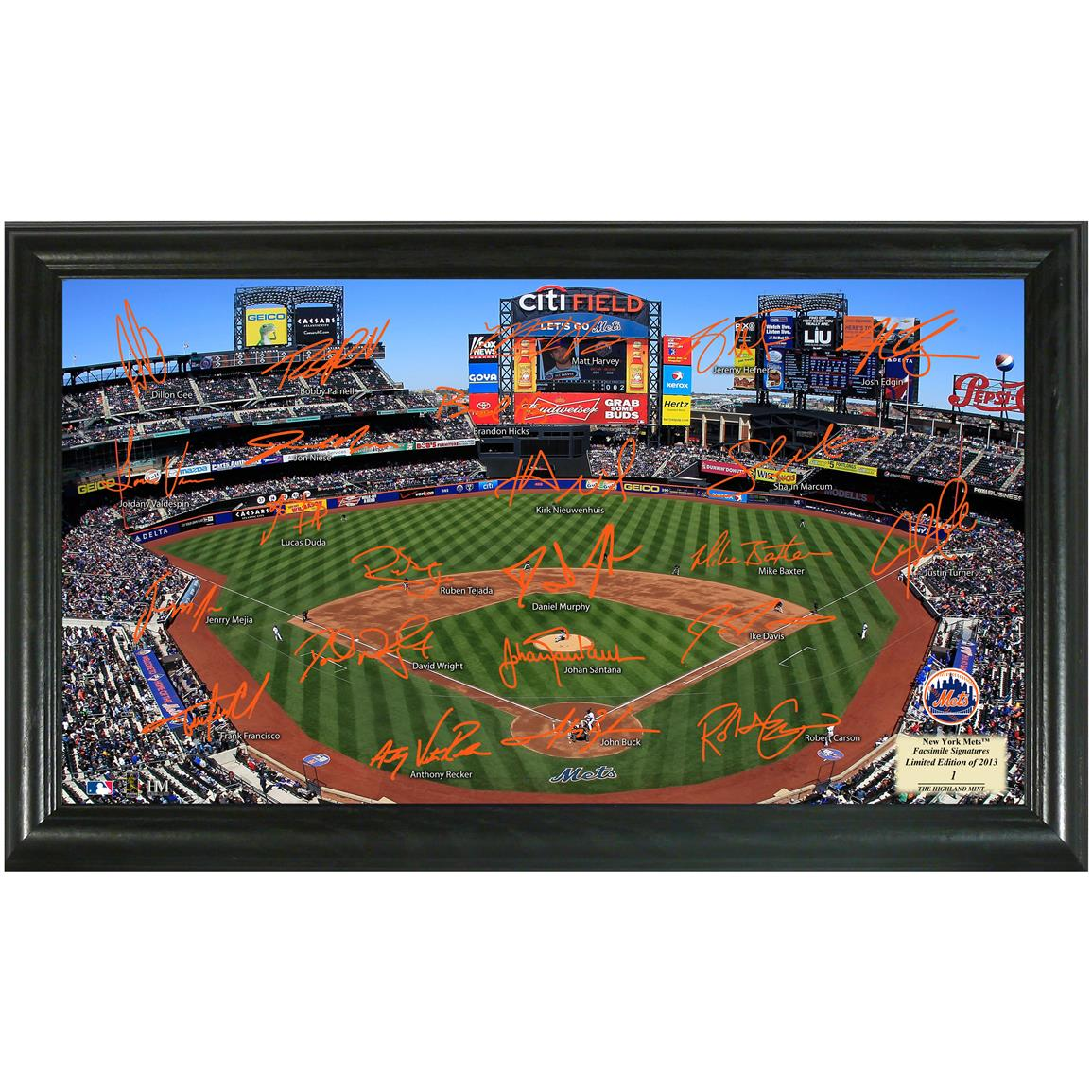 2013 New York Mets Signature Field Display from Highland Mint®