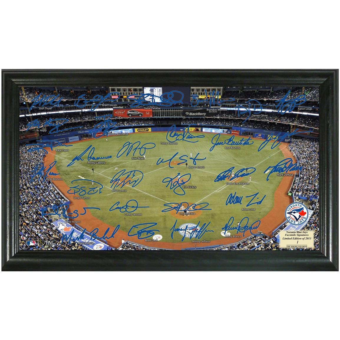 2013 Toronto Blue Jays Signature Field Display from Highland Mint®