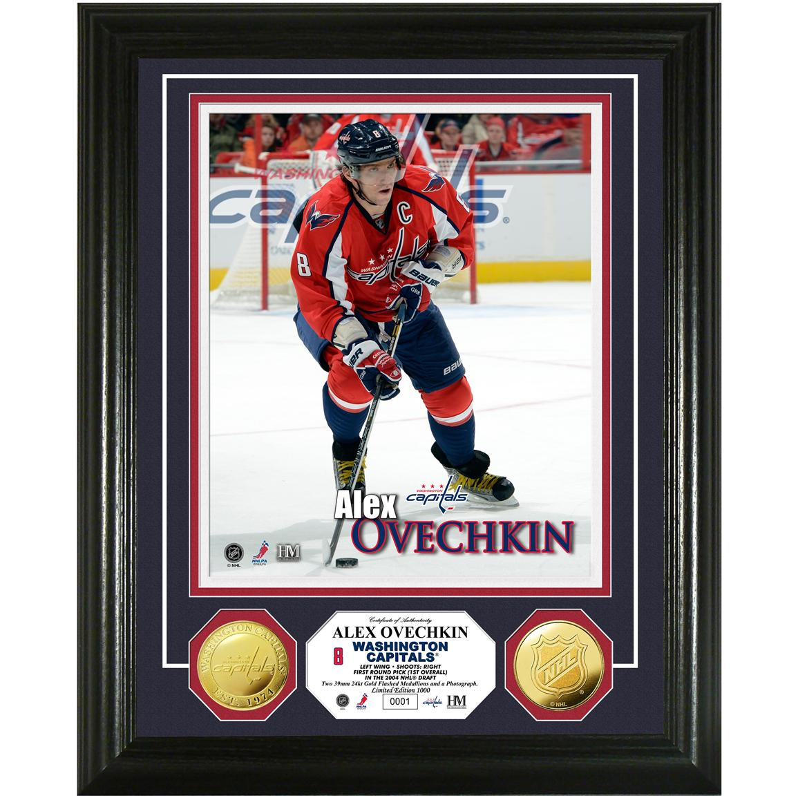 Alex Ovechkin Gold Coin Photo Mint from Highland Mint®