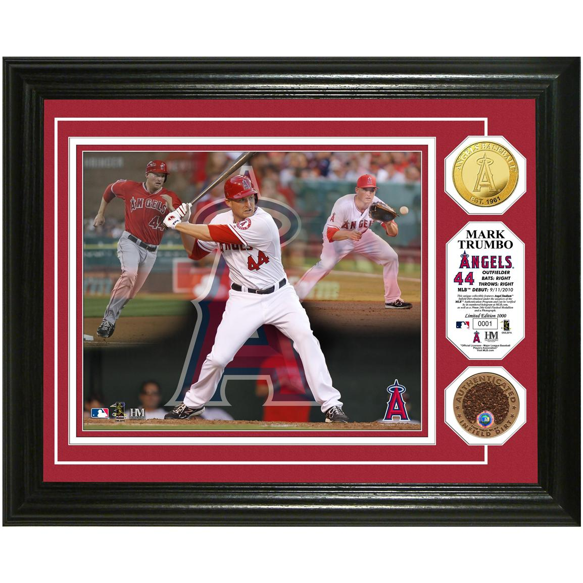 "Mark Trumbo ""Triple Play"" Game-used Dirt Coin Photo Mint from Highland Mint®"