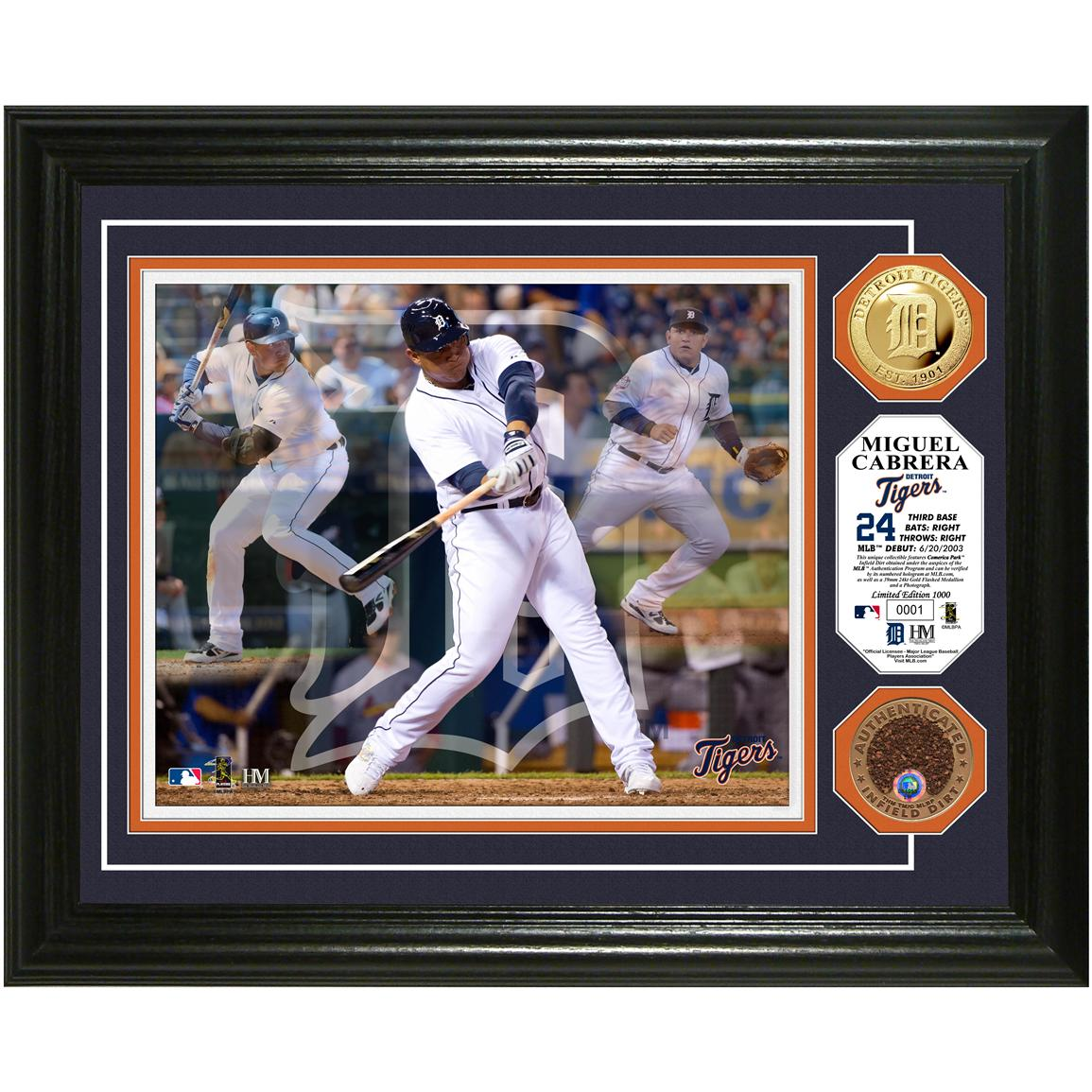 "Miguel Cabrera ""Triple Play"" Game-used Dirt Coin Photo Mint from Highland Mint®"