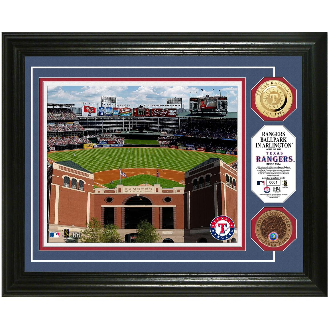 Ranger's Ballpark Game-used Dirt Coin Photo Mint from Highland Mint®