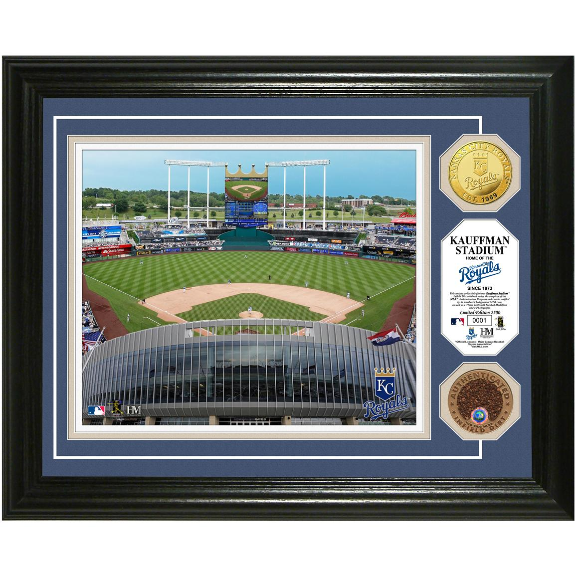 Kauffman Stadium Game-used Dirt Coin Photo Mint from Highland Mint®