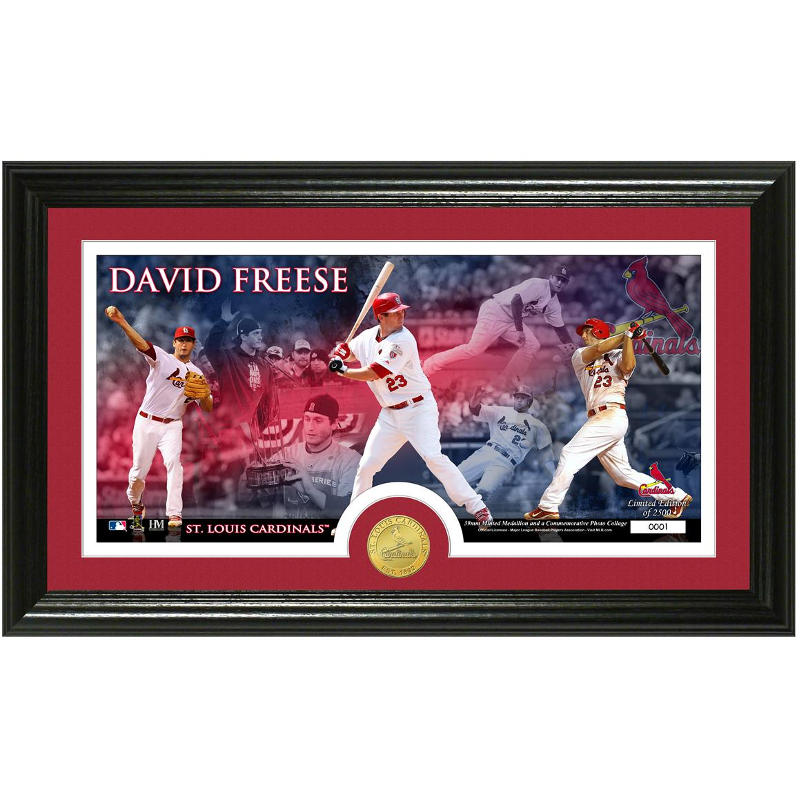 David Freese Bronze Coin Pano Photo Mint from The Highland Mint®