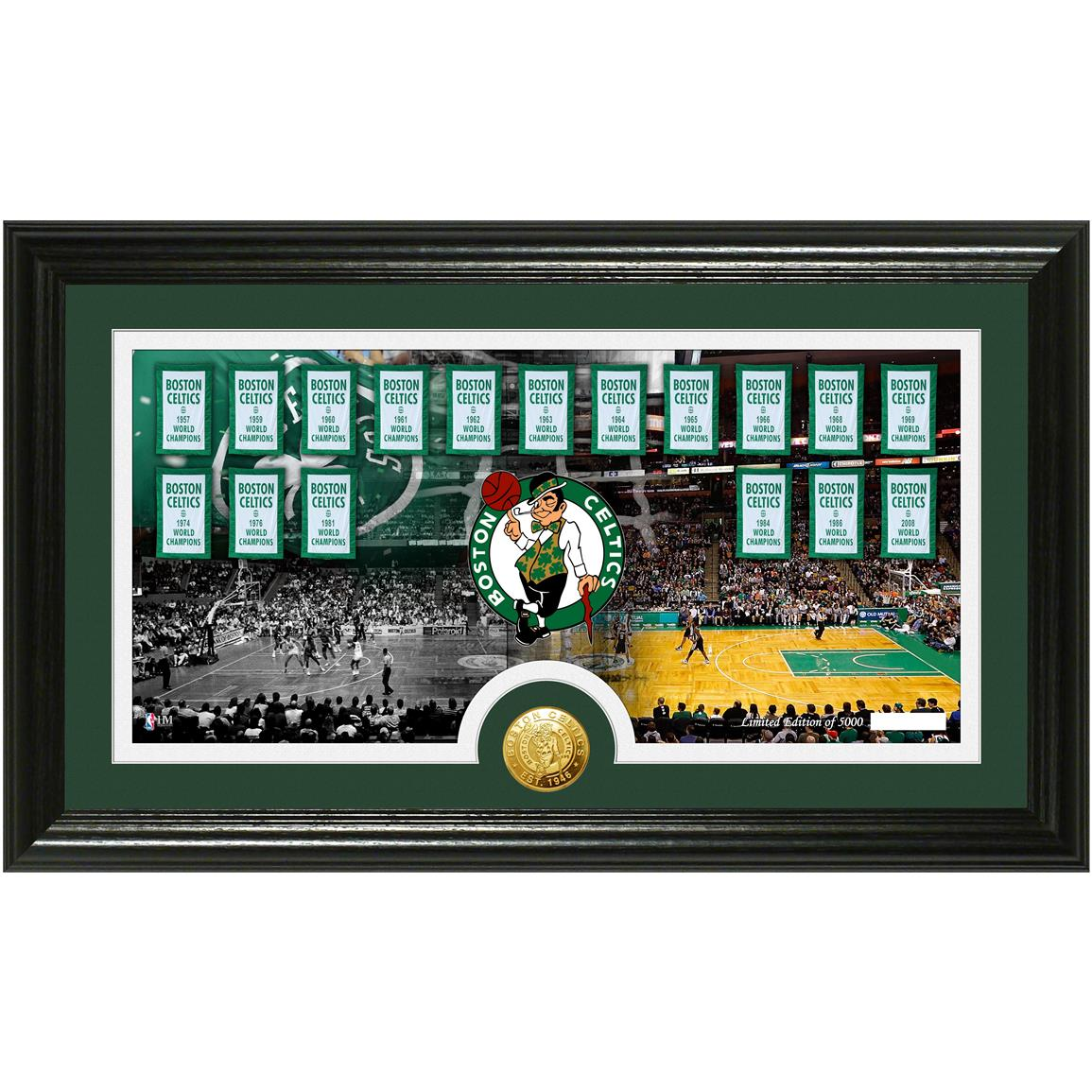 "Boston Celtics ""Tradition"" Minted Coin Pano Photo Mint from The Highland Mint®"