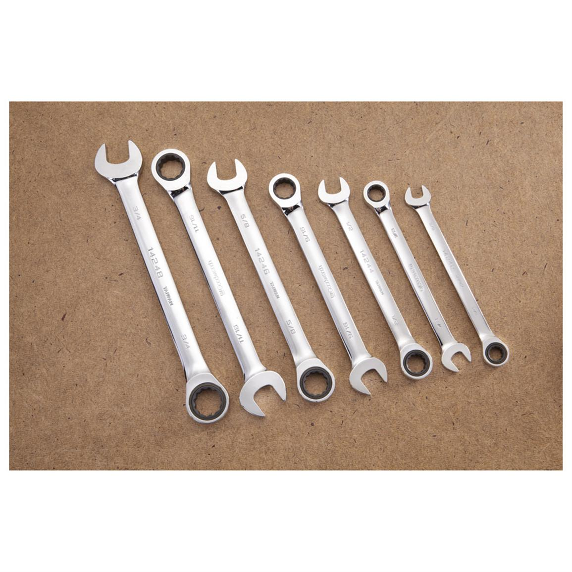 7-Pc. Gear Wrench Set