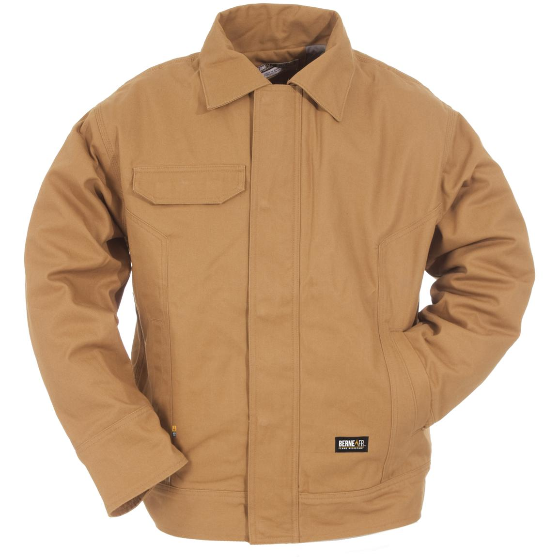 Berne® Flame-resistant Bomber Jacket, Brown