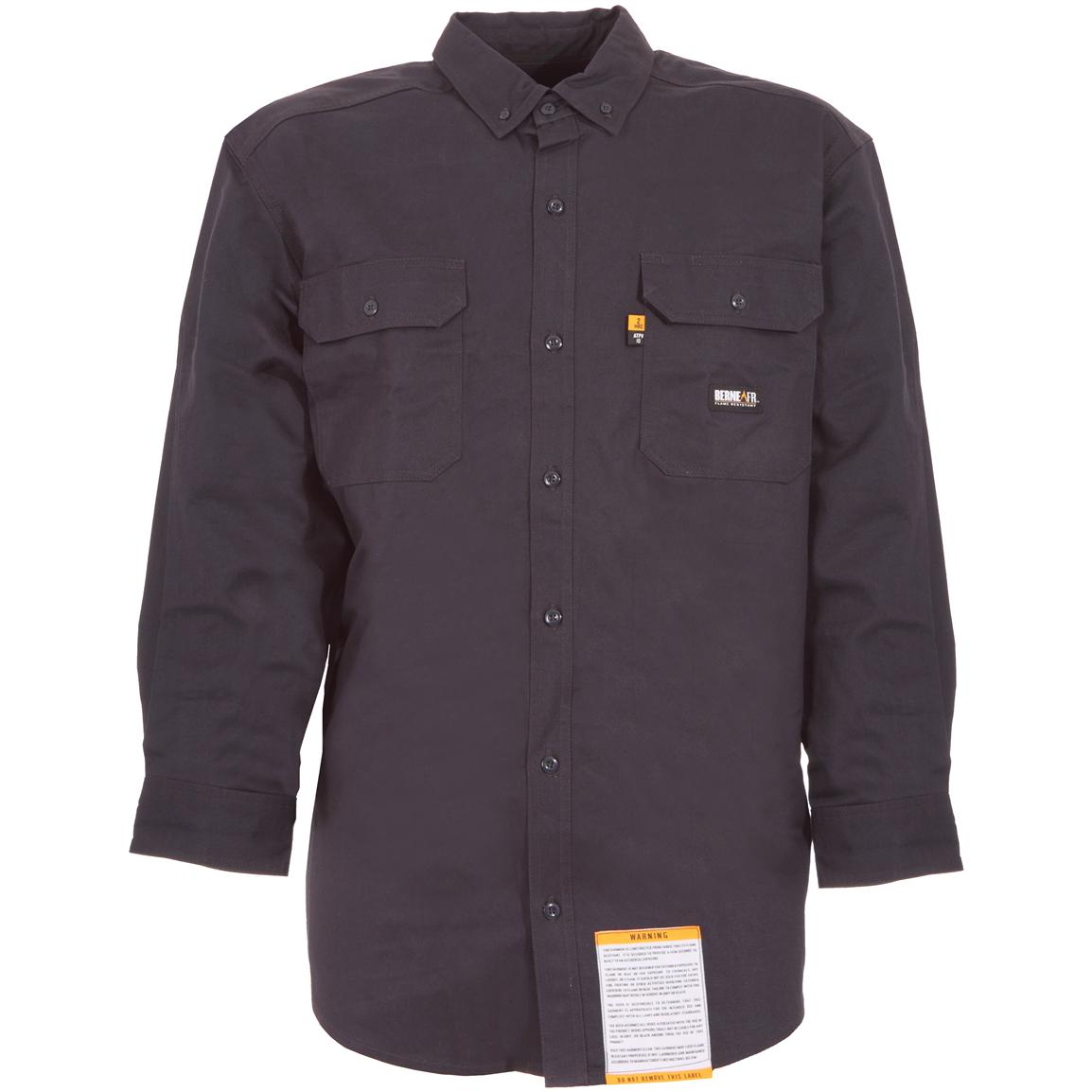 Berne® Flame-resistant Button-down Workshirt, Navy