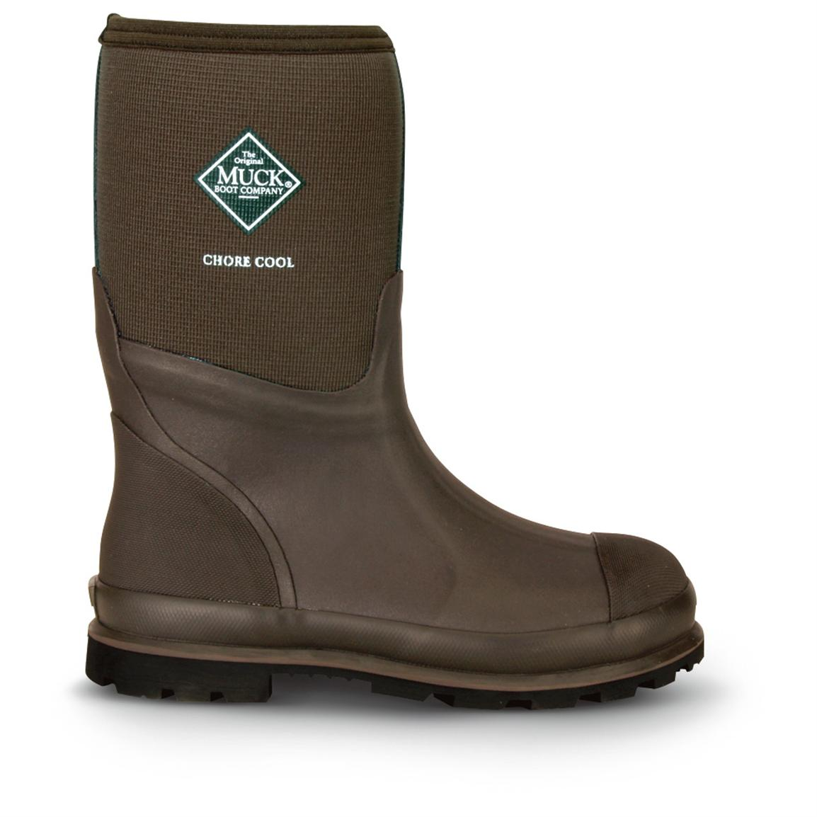 Men&39s Muck Boots™ Chore Cool Waterproof Mid Rubber Boots Brown