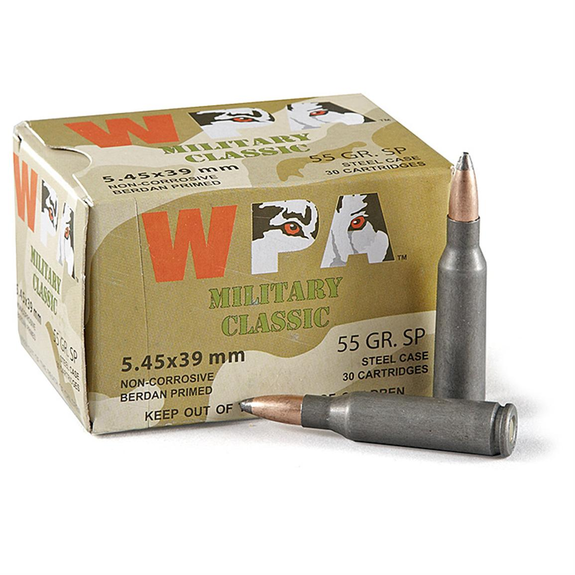 Wolf, 5.45x39, SP, 55 Grain, 750 Rounds