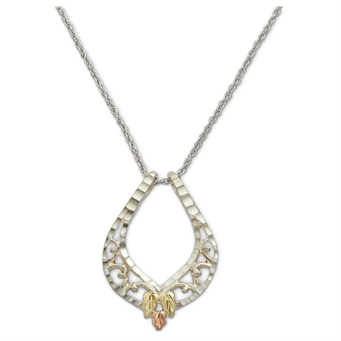 Landstrom's Black Hills Gold Teardrop Necklace