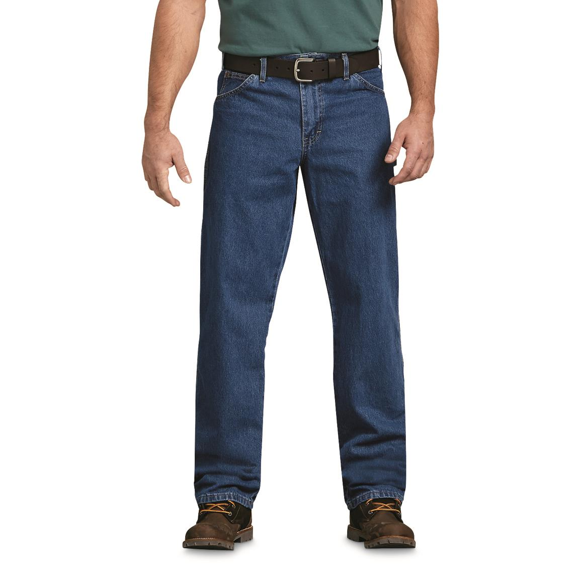 Men's Dickies Relaxed Fit Carpenter Jeans, Stonewashed
