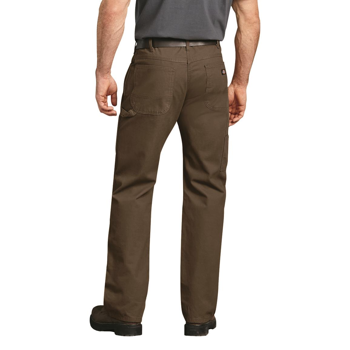 c34f348505a5b Dickies Men's Relaxed Fit Straight Leg Carpenter Duck Jeans, Brown Duck ·  Back view, Brown Duck · Back view, Timber
