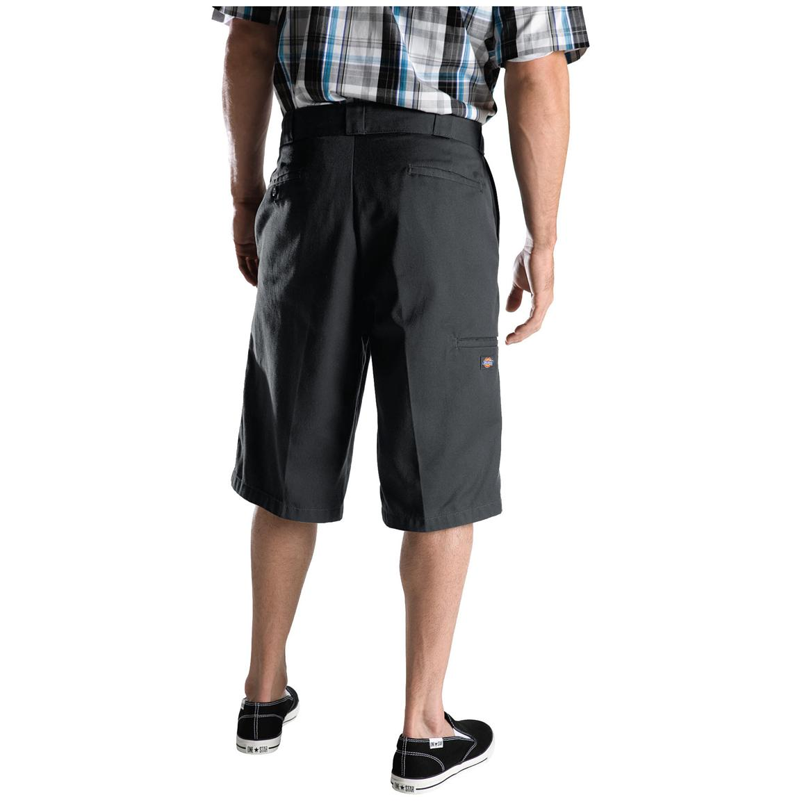 "Men's Dickies® 13"" Loose Fit Multi-pocket Work Shorts, Charcoal - Back"